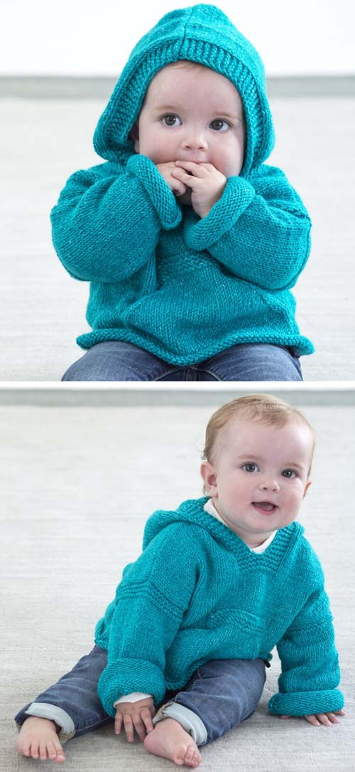 Diego Hoodie Pullover - Free Knitting Pattern