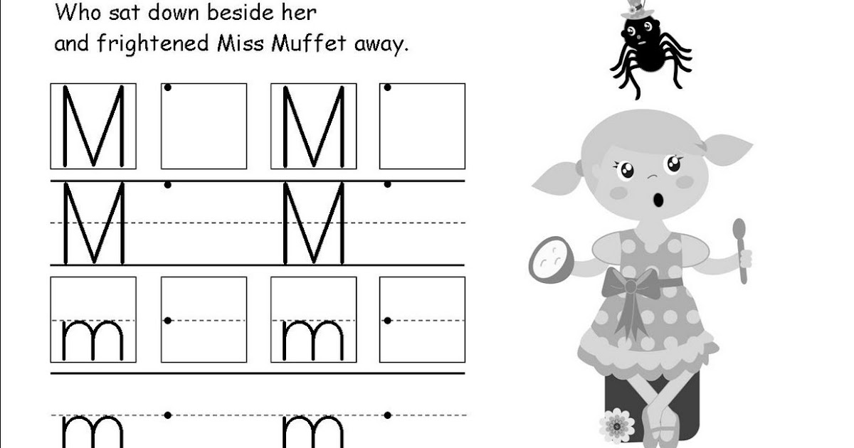 The 2nd Grade Chick: The letter Mm Little Miss Muffet the