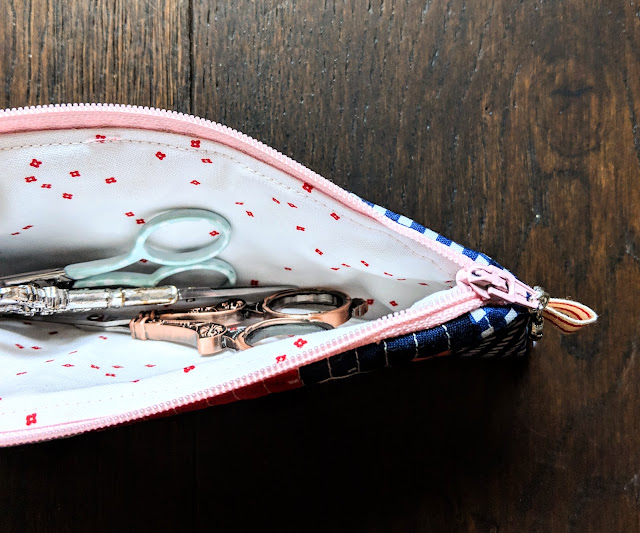 Riley Blake Designs Blossom Basic Embroidery Scissors Pouch by Heidi Staples for Fabric Mutt