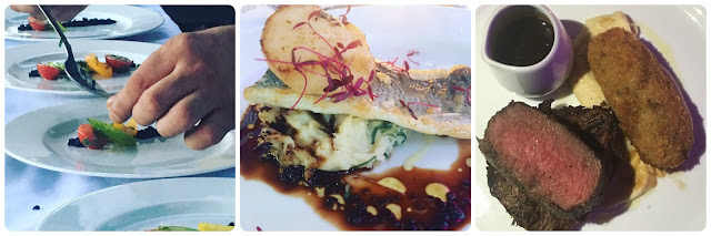 gourmet food #supperclub Sea Bass & duo of beef