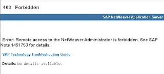 Error al acceder a Netweaver Administrator