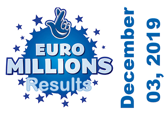 EuroMillions Results for Tuesday, December 03, 2019