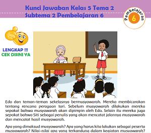 Kunci Jawaban Kelas 5 Tema 2 Subtema 2 Pembelajaran 6 www.simplenews.me
