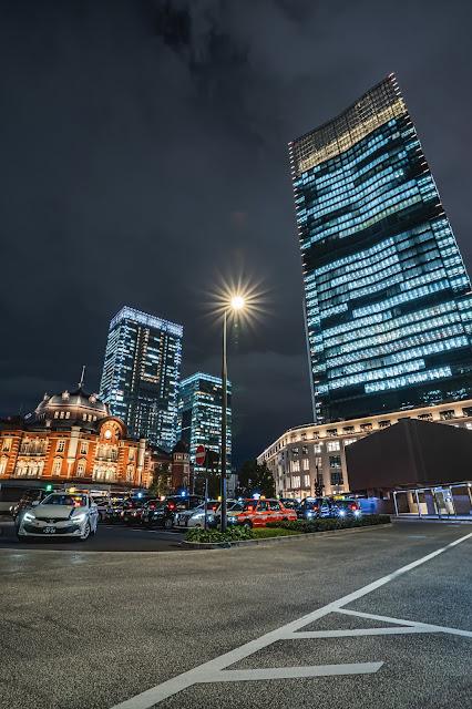 東京駅,丸の内,夜景