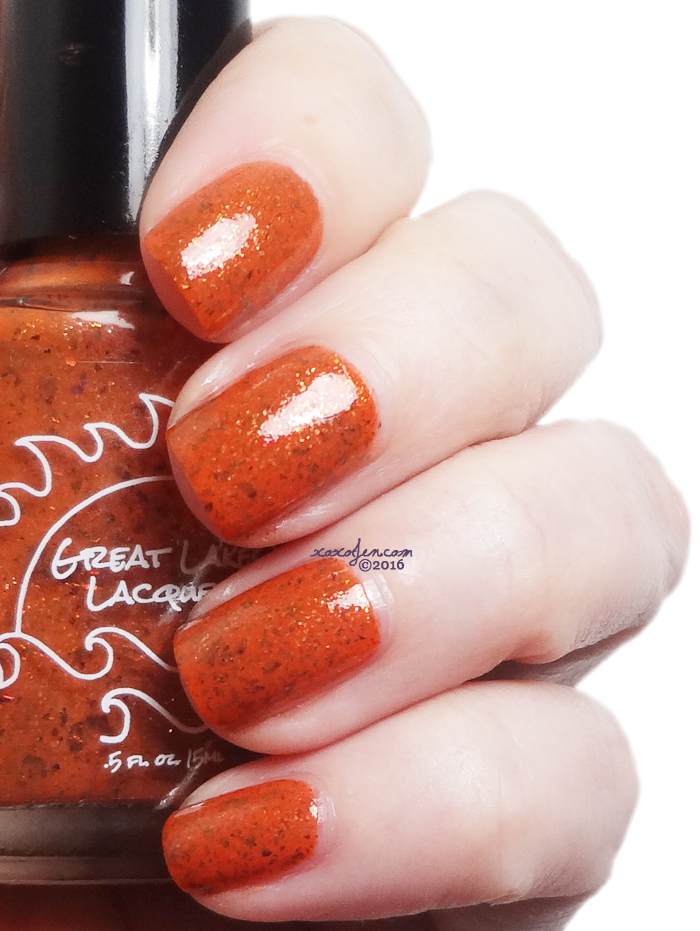 xoxoJen's swatch of Great Lakes Lacquer DO NOT Pumpkin Spice Everything