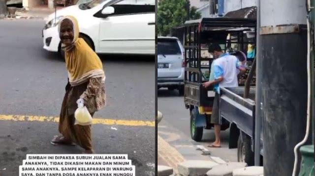 VIRAL Video Nenek Diduga Dipaksa Berjualan, Tak Diberi Makan dan Minum, Anak Memantau dari Kejauhan