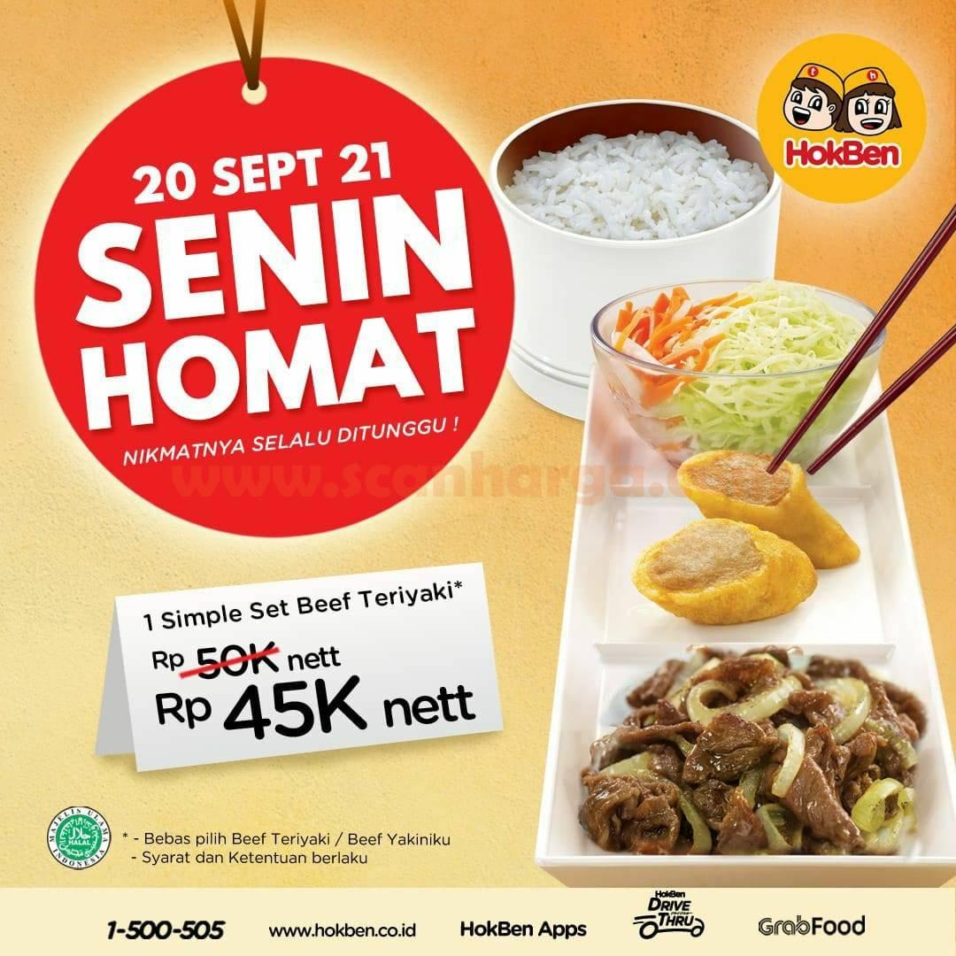Promo Hokben Terbaru 20 September - SENIN HOMAT Diskon 45.000 nett