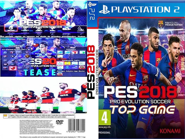 Descargar Pro Evolution Soccer 2018 (Pes 2018) NTSC-PAL ps2 Formato iso Esta no es una versión oficial es un parche que actualiza las plantillas, los uniformes, los rasgos físicos etc.