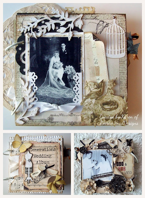 scrapbook wedding album by Karen of RoosterHeadDesigns