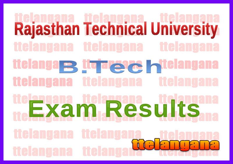 RTU B.Tech Kota Exam Results