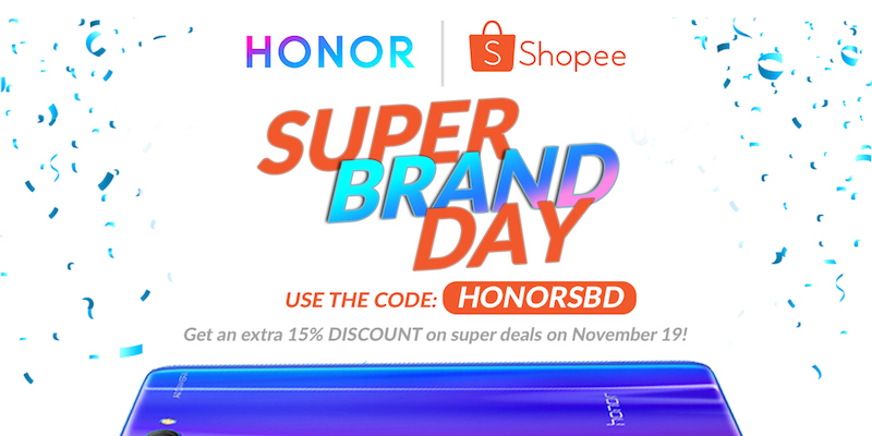 Honor at Shopee Super Brand Day sale