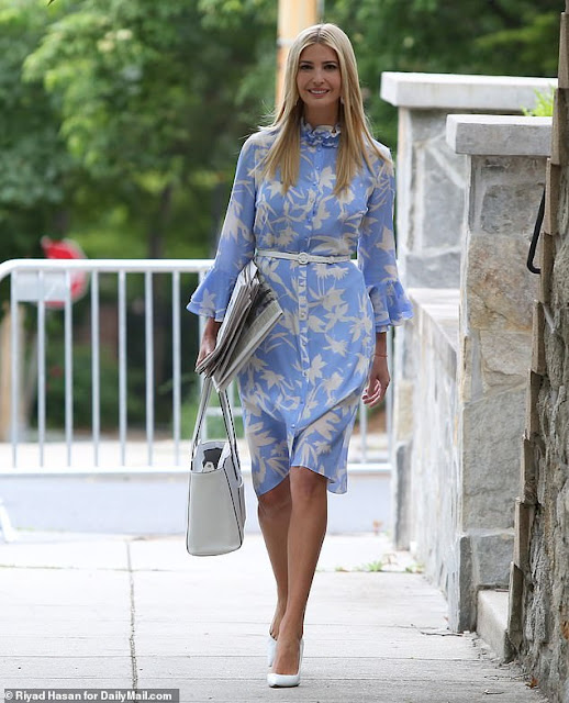 Strategic style! Ivanka Trump dons a $700 dress from a British fashion label that empowers human trafficking victims as she steps out to unveil the 2019 Trafficking in Persons Report