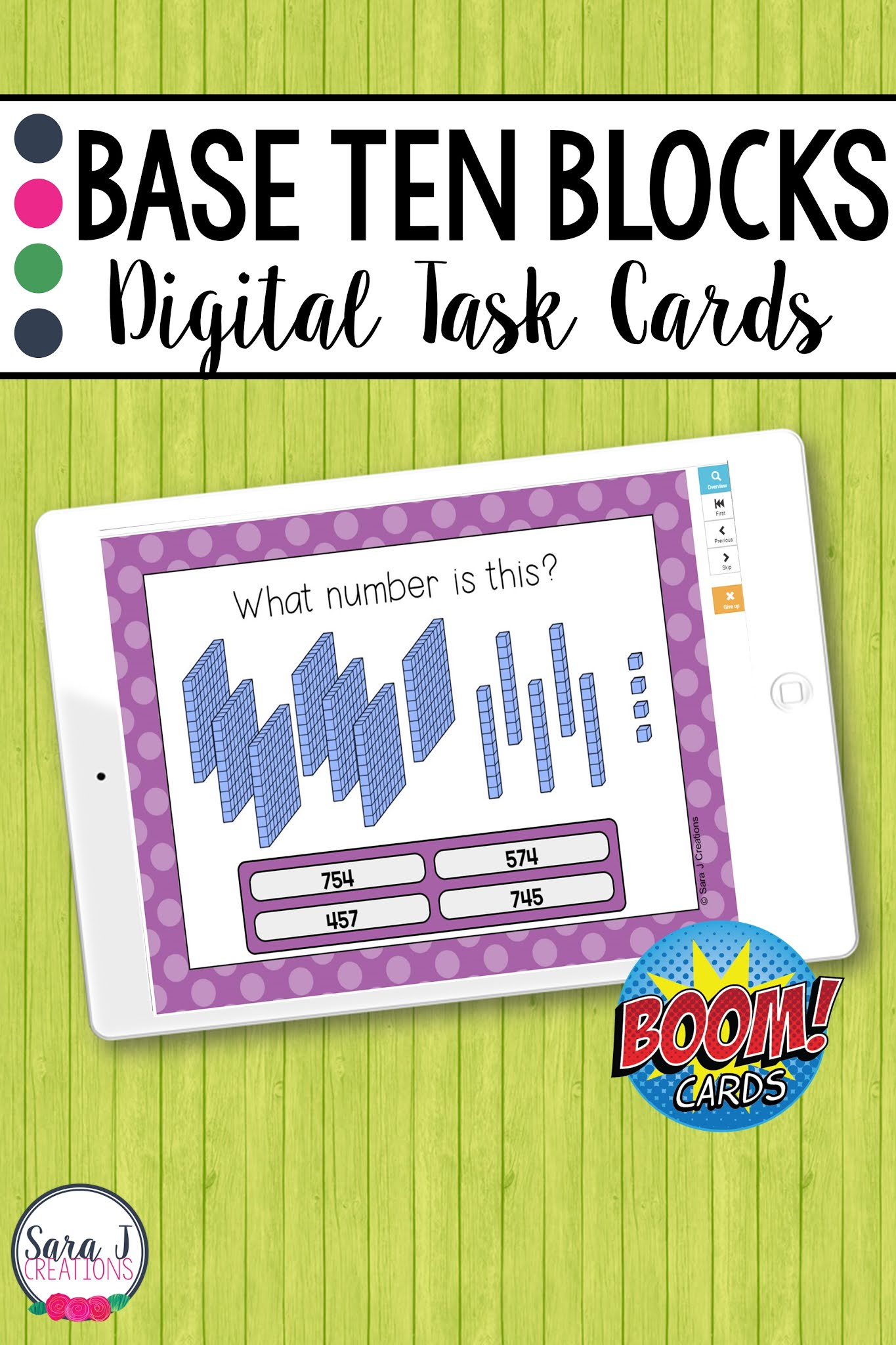 Make digital learning fun with these engaging, no prep Place Value Base Ten Blocks Boom Cards. These digital task cards are perfect for remote learning but can also be used in a traditional classroom on devices such as ipads, tables, Chromebooks, smartboards, and more. Designed for 2nd grade, these place value task cards include numbers up to 1,000.