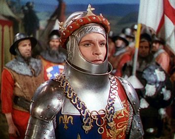 Laurence Olivier as King Henry V in Henry V (1944)