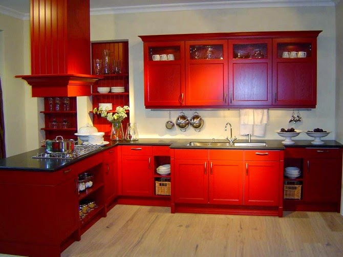 Cocinas de color rojo colores en casa - Cocinas en rojo ...