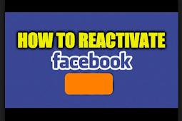 Can You Reactivate A Facebook Account