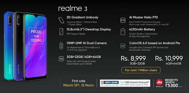 Top 10 Reason to Buy Realme 3 at ₹10,999