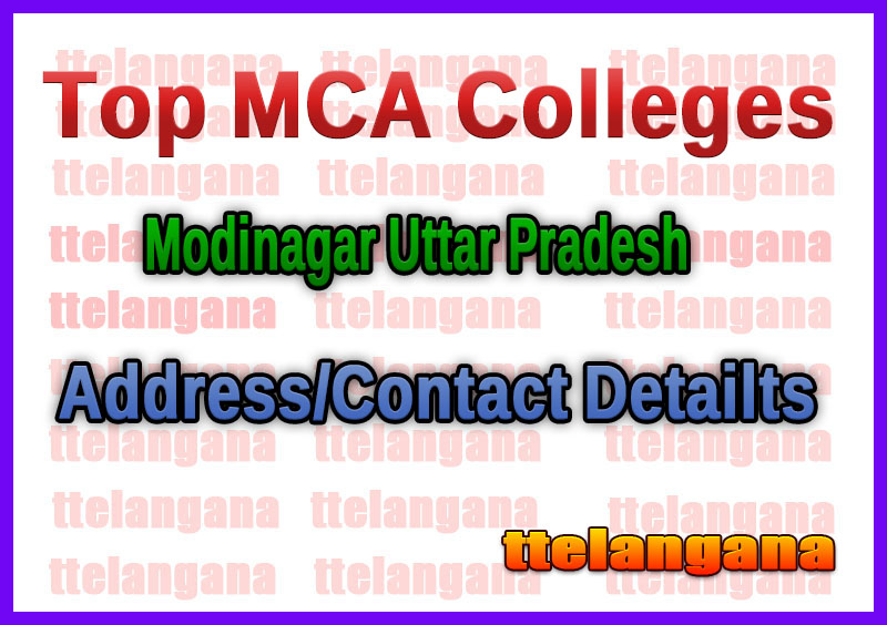 Top MCA Colleges in Modinagar Uttar Pradesh