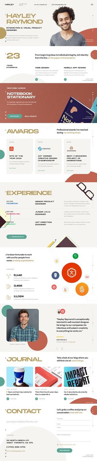 Personal CV/Resume WordPress Template