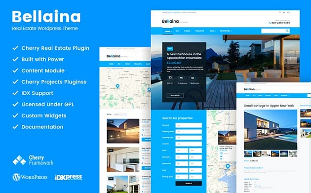 Bellaina Real Estate Responsive WordPress Theme