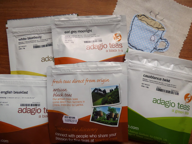 Loose tea selection Adagio Teas