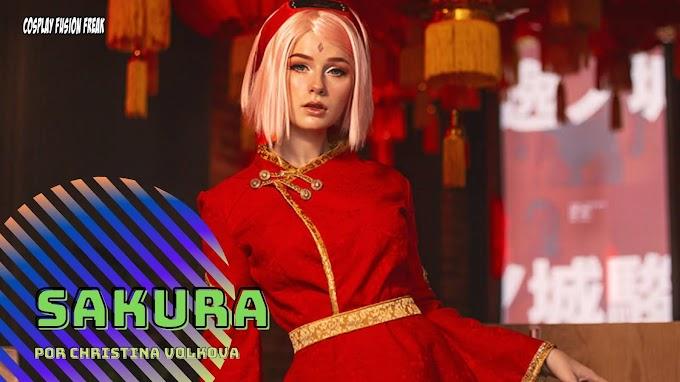 Christina Volkova con su cosplay de Sakura