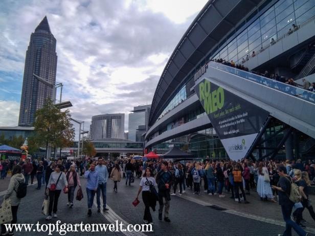Messegelände bei der Buchmesse - Blog Topfgartenwelt