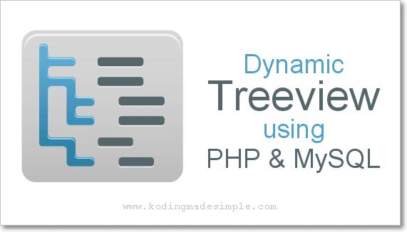Dynamic Treeview Menu using PHP, MySQL and AJAX Example