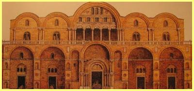 Basílica antes de la reconstrucción alrededor de 1064