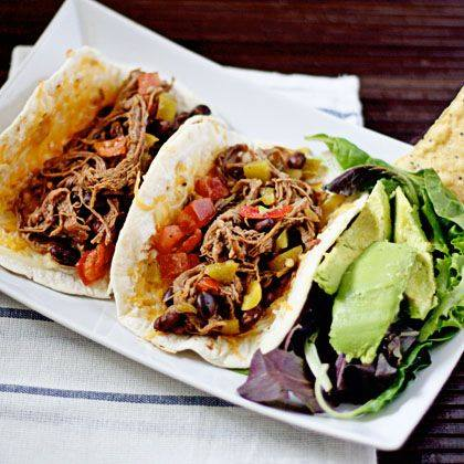 Shredded Beef and Bean Slow-Cooker Tacos