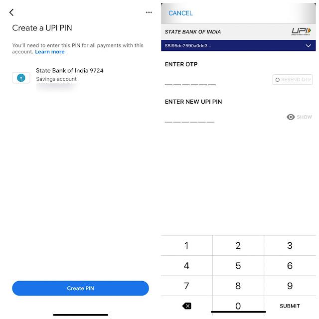 Create UPI PIN