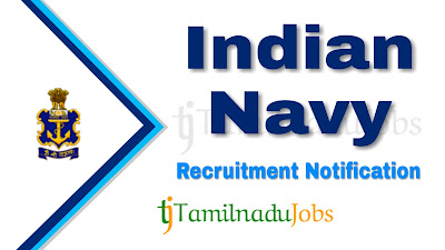 Indian Navy recruitment notification 2019, govt jobs in India, central govt jobs, govt jobs for 12th pass