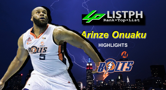 Video Playlist: Arinze Onuaku Meralco Bolts import 2018 Commissioners' Cup highlights
