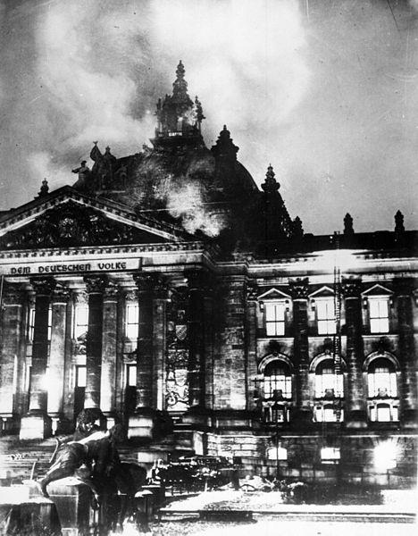 Reichtag pegando fogo em 1933, Berlim