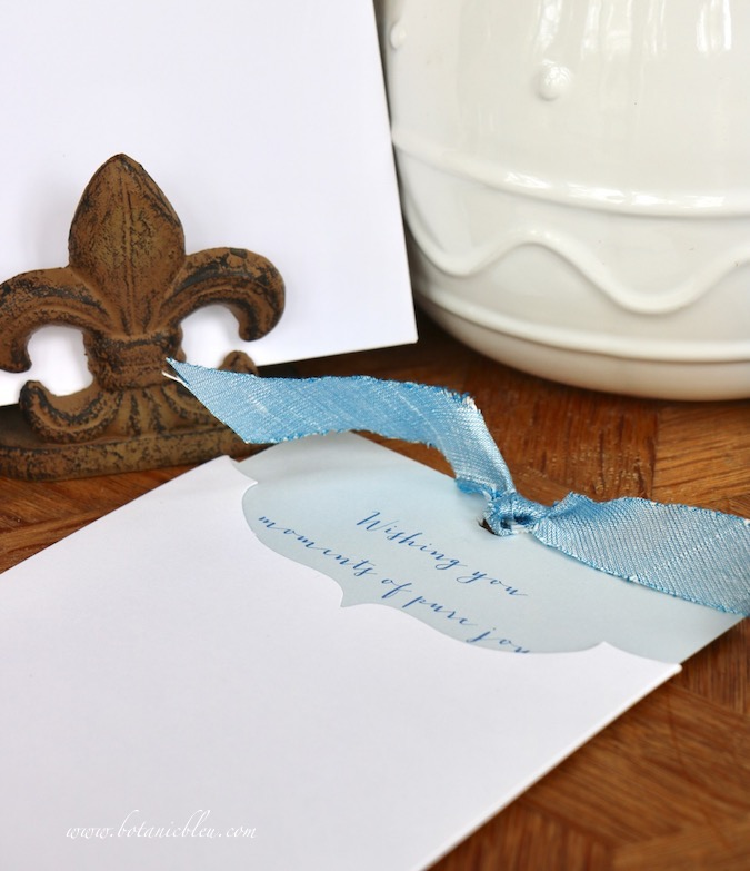 Attach coordinating ribbons to Handmade Easter Cards