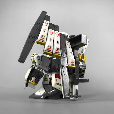 Painted G Generation-F SD BB Senshi RX-93 Nu Gundam Back View