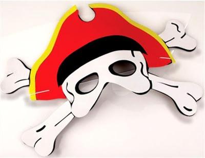 máscara de pirata en EVA