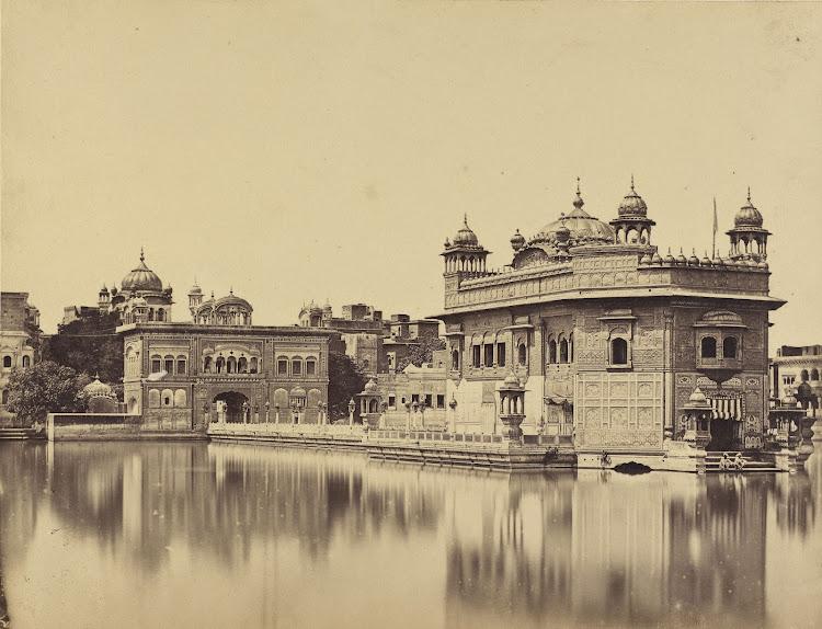 The Golden Temple at Amritsar, Punjab - Albumen silver print c1860's