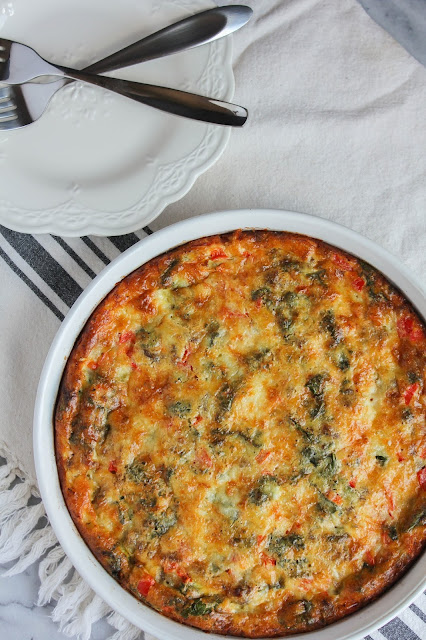 Cheddar & Sausage Frittata | The Chef Next Door #BrunchWeek