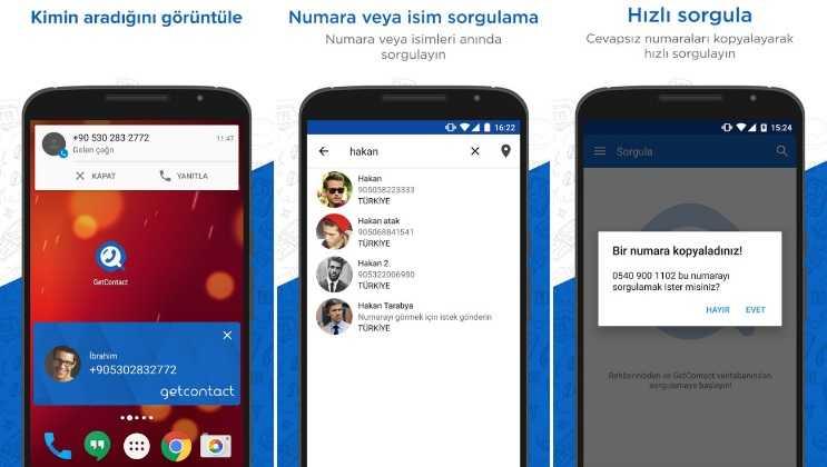 Arayan numaranın kimin olduğunu öğrenmek için GetContact uygulamasını da kullanabilirsiniz.