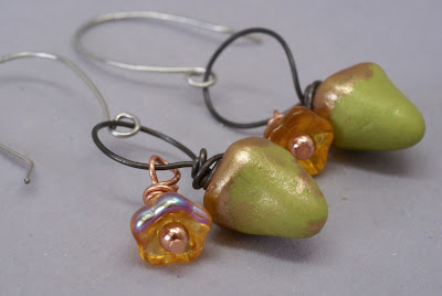 Acorn Earrings by BayMoonDesign