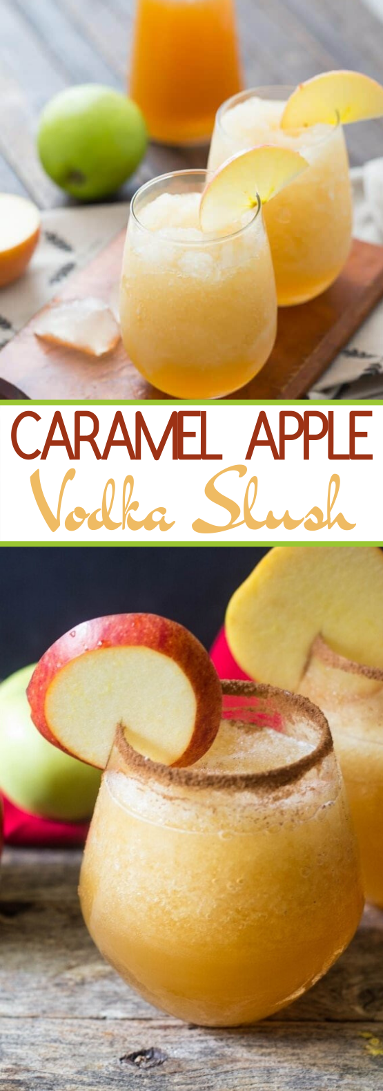 Caramel Apple Vodka Slush #drinks #alcohol #slushie #vodka #fall