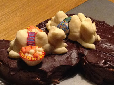 Birthday cake with camels - because why not?