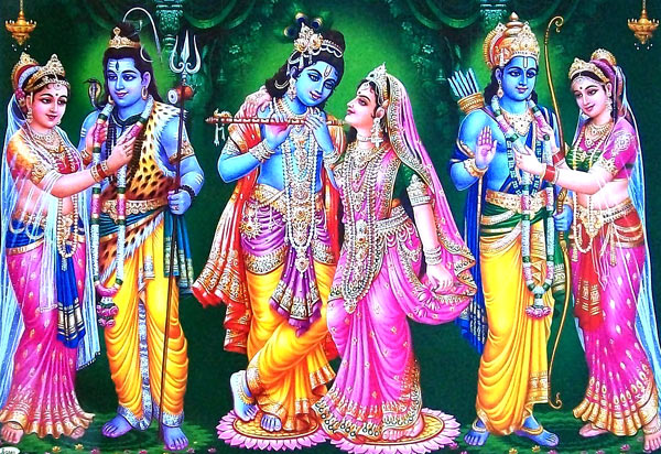 Krishna Radha Photo Wallpaper