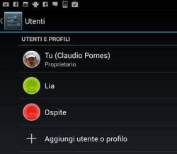 altri account su tablet Android