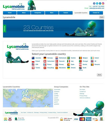 Lycamobile recharge or top up online select country