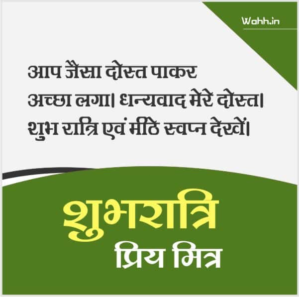 Good Night Message For Friends In Hindi