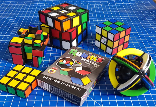 Grouping of all 6 items in the Rubiks Summer Scramble new releases