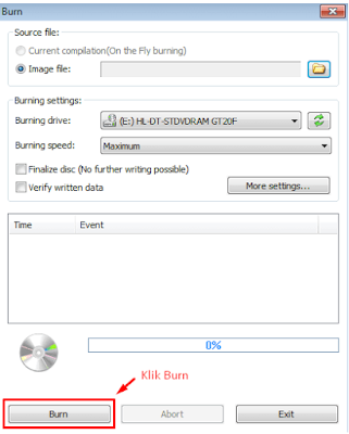 Cara burning cd dengan power ISO