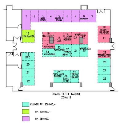 Denah Stand Pameran UBC Expo 2016 jakarta